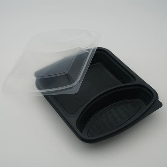 2 Göz Mikrodalga Kap + Kapak (50 Adet)