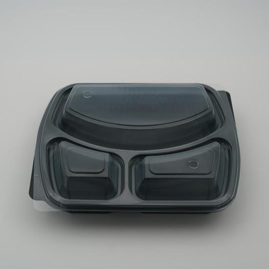 3 Göz Mikrodalga Kap + Kapak (50 Adet)
