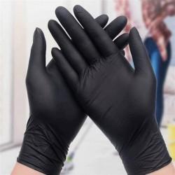 Pudralı Nitril Eldiven Siyah (100 Adet)